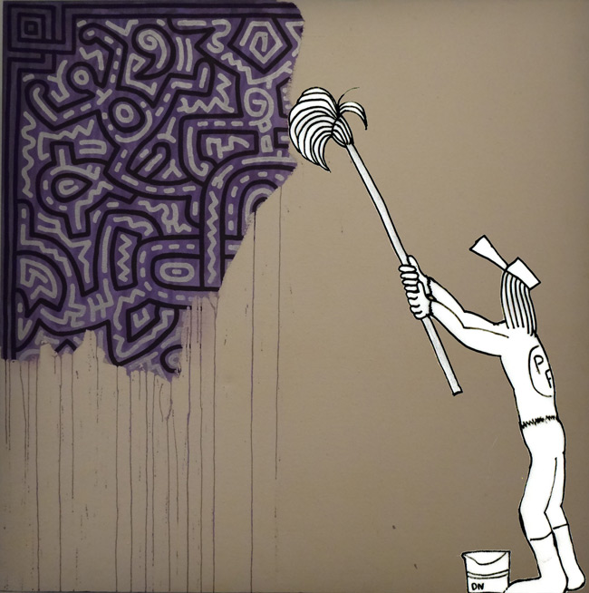 Zeda-Unfinished-Painting-Keith-Haring-89-Acrylique-sur-Cane.jpg