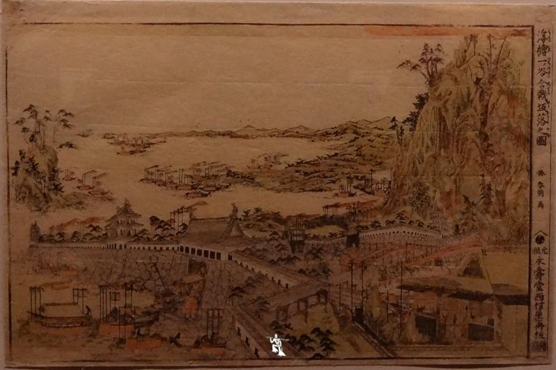 Zeda-La-descente-de-la-falaise-à-la-bataille-d'Ichinotani-Hokusai-Estampe-1781-1789-BR